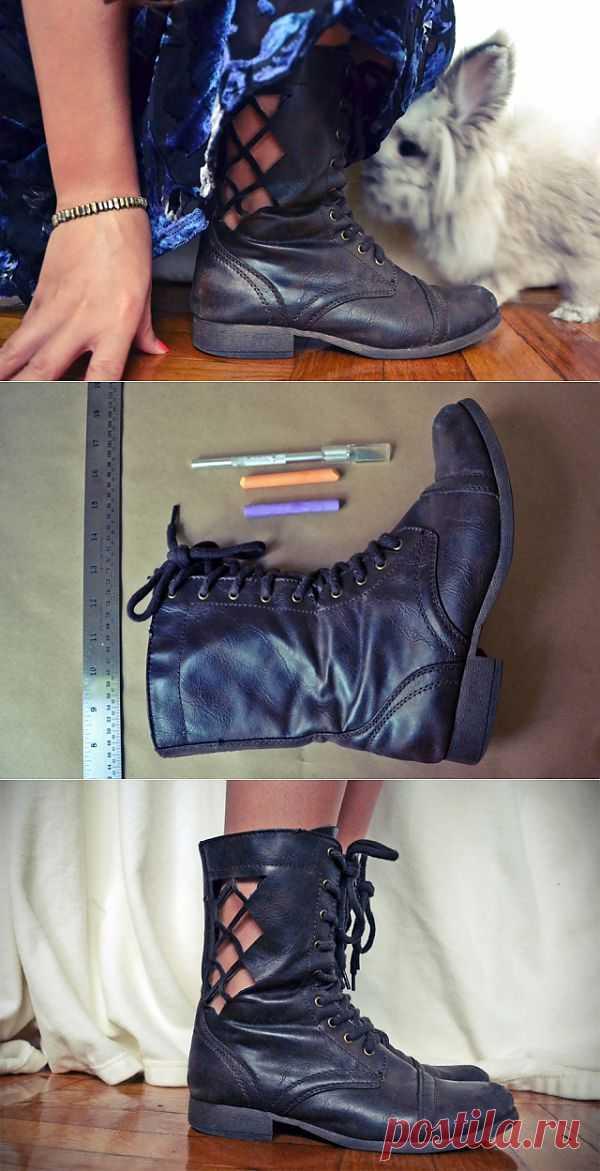 Ботинки с прорезями (DIY) / Обувь / Модный сайт о стильной переделке одежды и интерьера