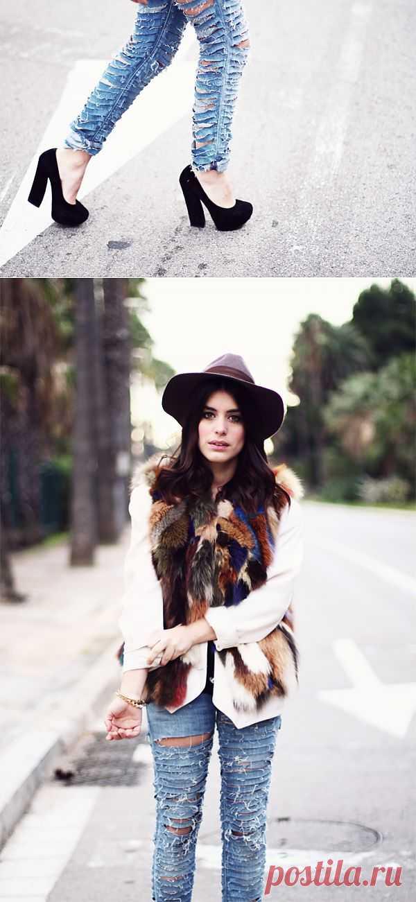 Джинсы в полосочку / Переделка джинсов / Модный сайт о стильной переделке одежды и интерьера
