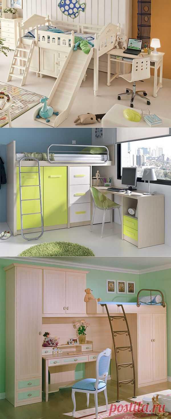 Кровать-чердак для детской комнаты.
