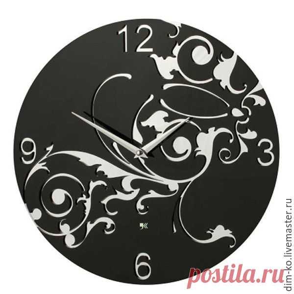 Часы настенные из акрилового стекла Фантазия – купить в интернет-магазине на Ярмарке Мастеров с доставкой - D74I5RU | Новосибирск