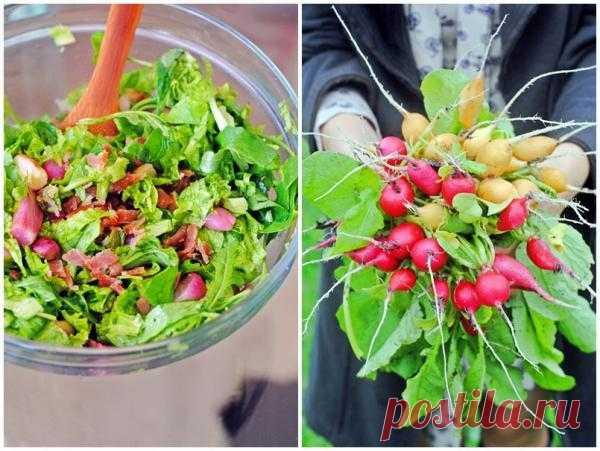 Салат с запеченным редисом!