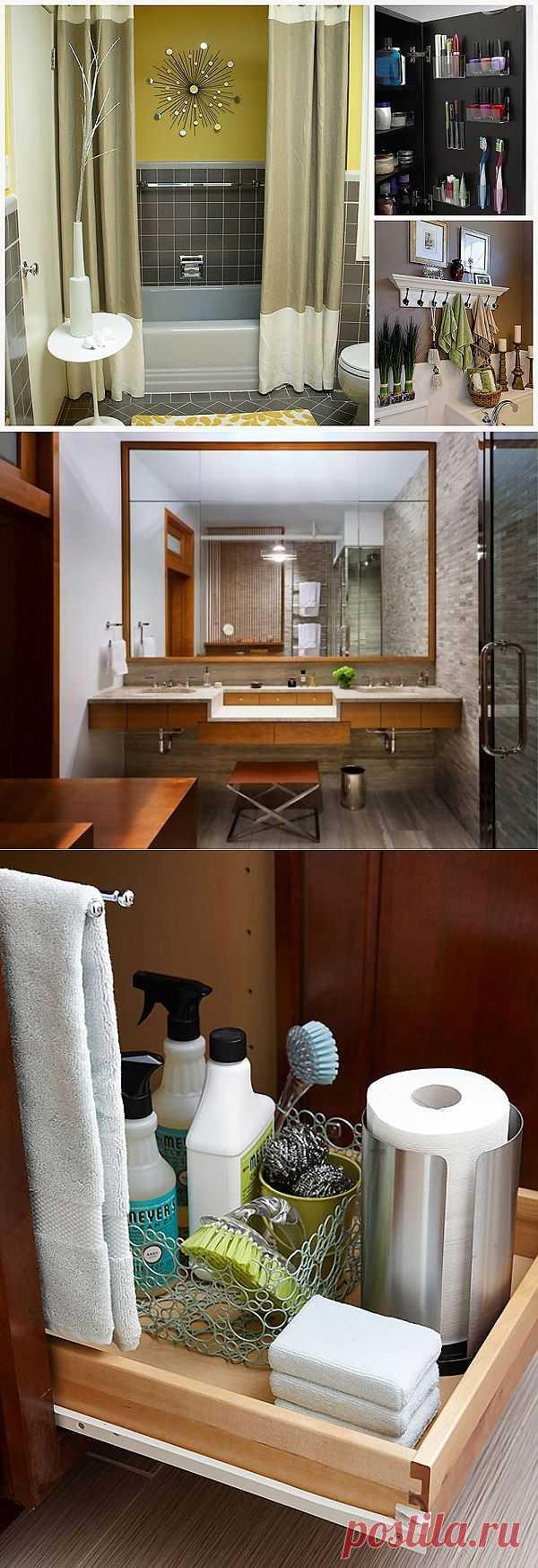 15 советов по обустройству маленькой ванной комнаты : НОВОСТИ В ФОТОГРАФИЯХ