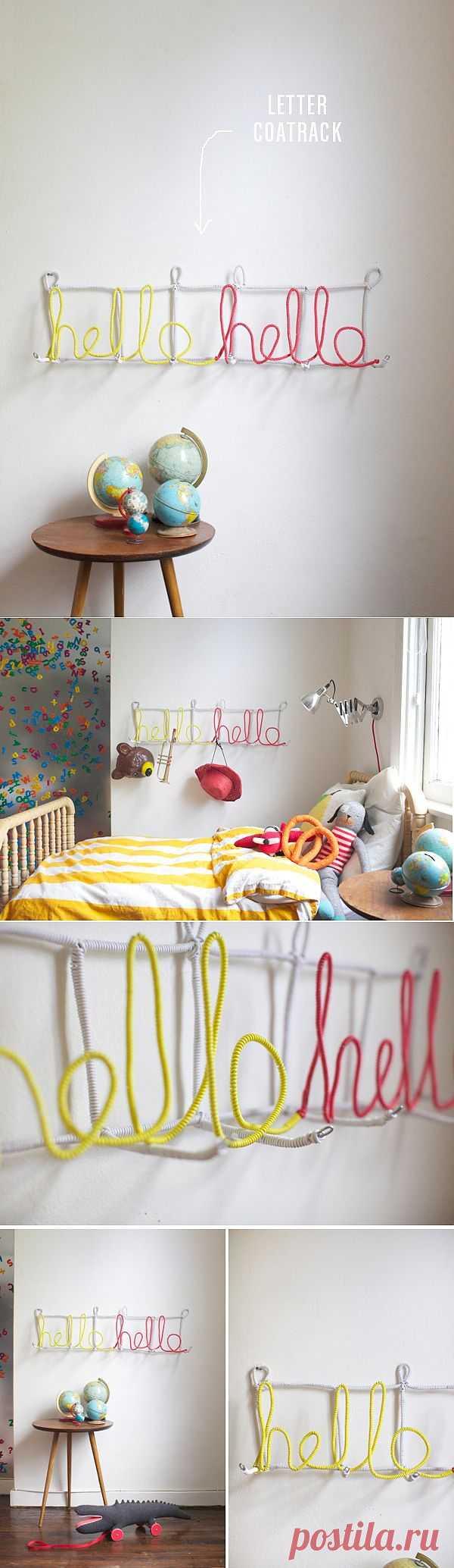 Вешалка-слово / Декор стен / Модный сайт о стильной переделке одежды и интерьера