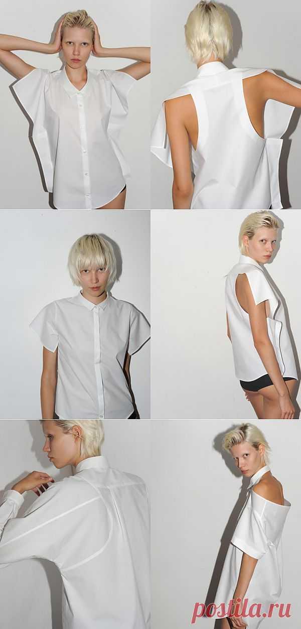 Белые рубашки от Uemulo Munenoli / Рубашки / Модный сайт о стильной переделке одежды и интерьера