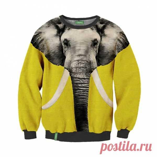 Свитер слон - очень милый и необычный.