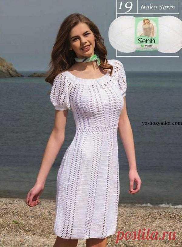 платье крючком с рукавами фонариками схемы вязания крючком платья