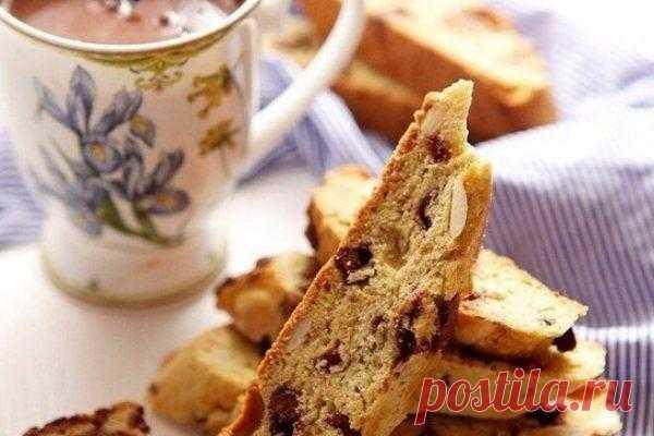 Итальянское печенье «Бискотти» с шоколадом и миндалем, рецепт с фото   Вкусные кулинарные рецепты