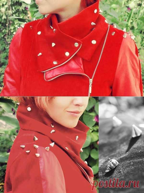 Шарф-воротник для куртки / Кожа / Модный сайт о стильной переделке одежды и интерьера