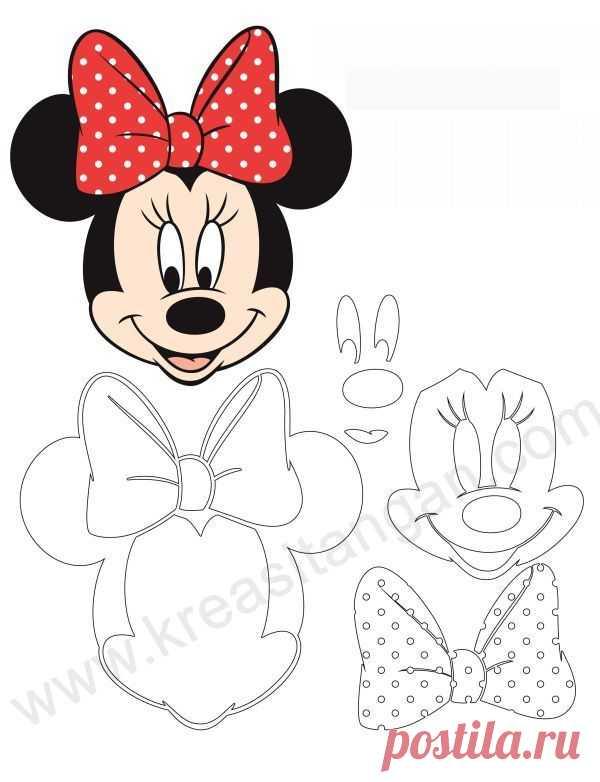 8+ Printable Minnie Mouse Bow Templates - Alaskacrochet.com