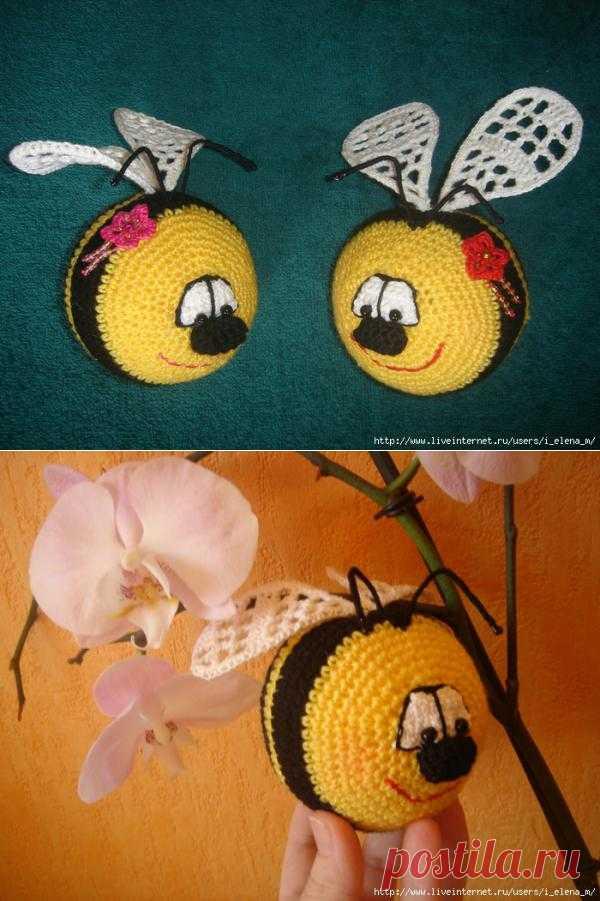 """Игрушка """"Пчелка-смайлик""""."""
