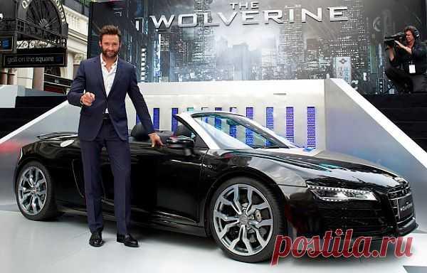 Hugh Jackman  на кинопремьере Россомаха Бессмертие представил Audi R8 V10 Spyder