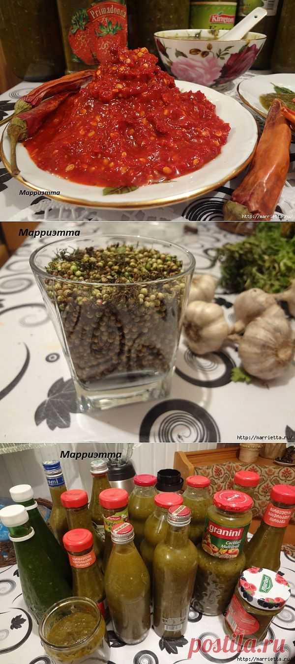 Как я готовлю ткемали из алычи и аджику на зиму. Грузинский соус ткемали по-русски.