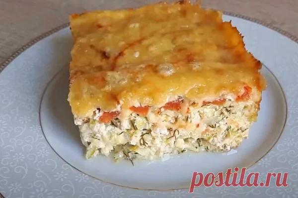 Сытный ужин для всей семьи: кабачковая запеканка | Магия вкуса | Яндекс Дзен