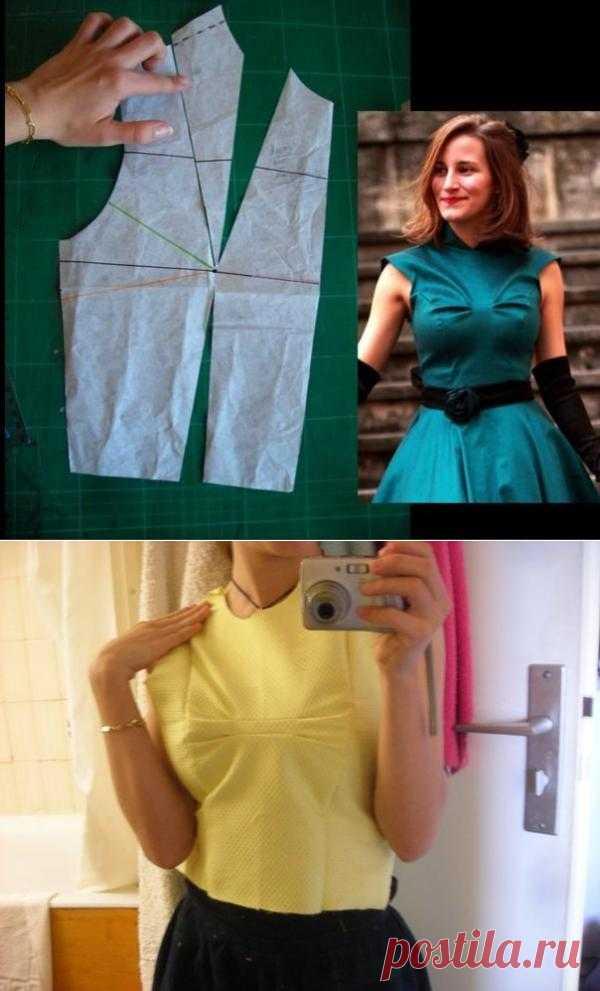 Построение выкройки для фальшивого банта / Простые выкройки / Модный сайт о стильной переделке одежды и интерьера