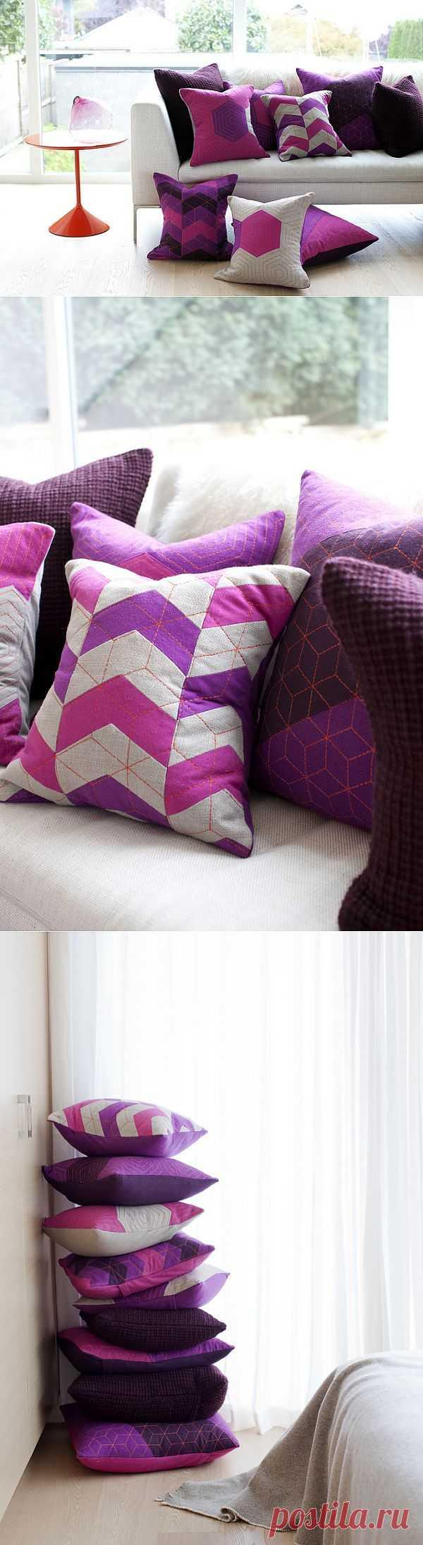 Подушки с интересными фактурами (подборка) / Подушки / Модный сайт о стильной переделке одежды и интерьера