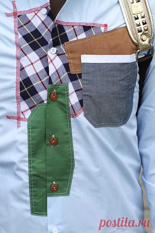 Лоскутная рубашка / Рубашки / Модный сайт о стильной переделке одежды и интерьера