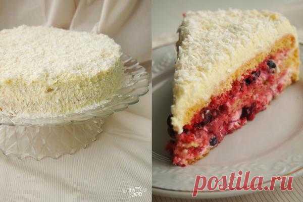 HAPPYFOOD - Летний торт с ягодами и белым шоколадом