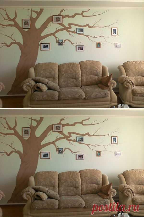 Дерево в интерьере(2) (мастер-класс) / Декор стен / Модный сайт о стильной переделке одежды и интерьера