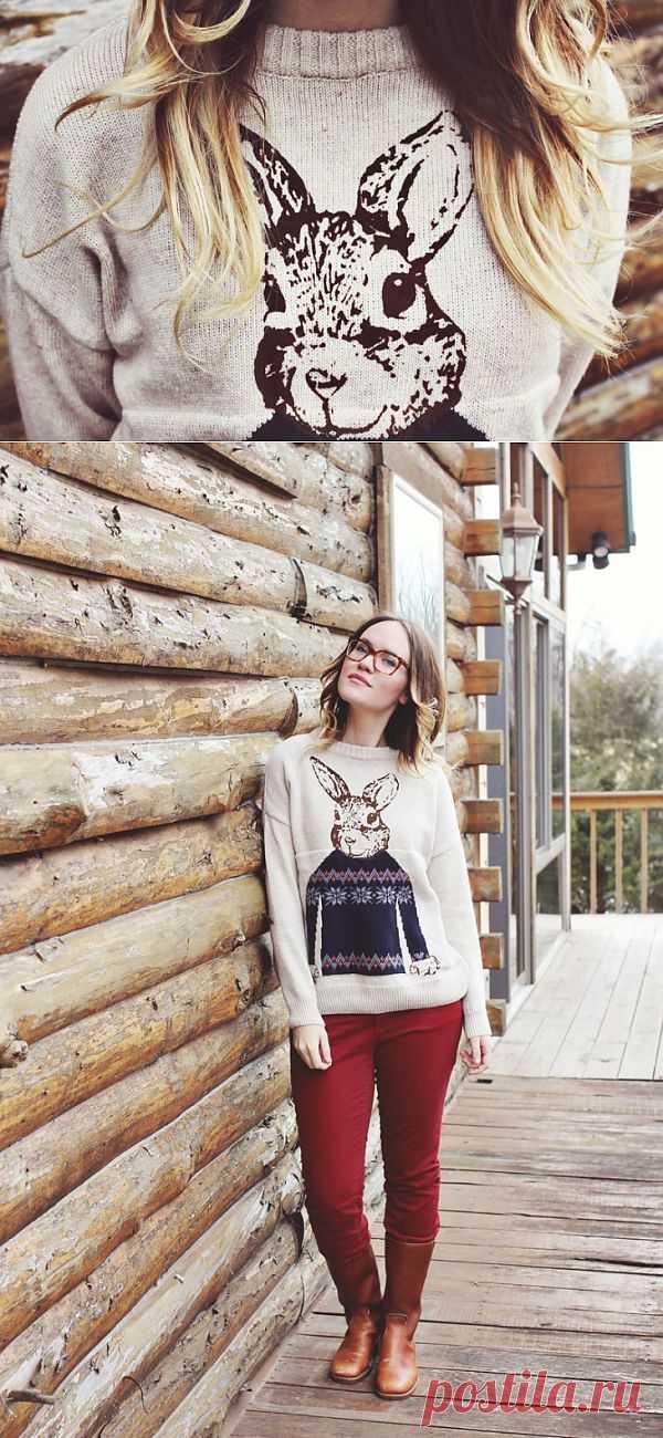 Кролик в свитере / Декор / Модный сайт о стильной переделке одежды и интерьера