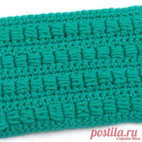 Необычный плотный узор. Видео МК Этот плотный узор с необычным способом вязания пышных столбиков идеально подойдет для вязания жакетов, джемперов и шапочек.