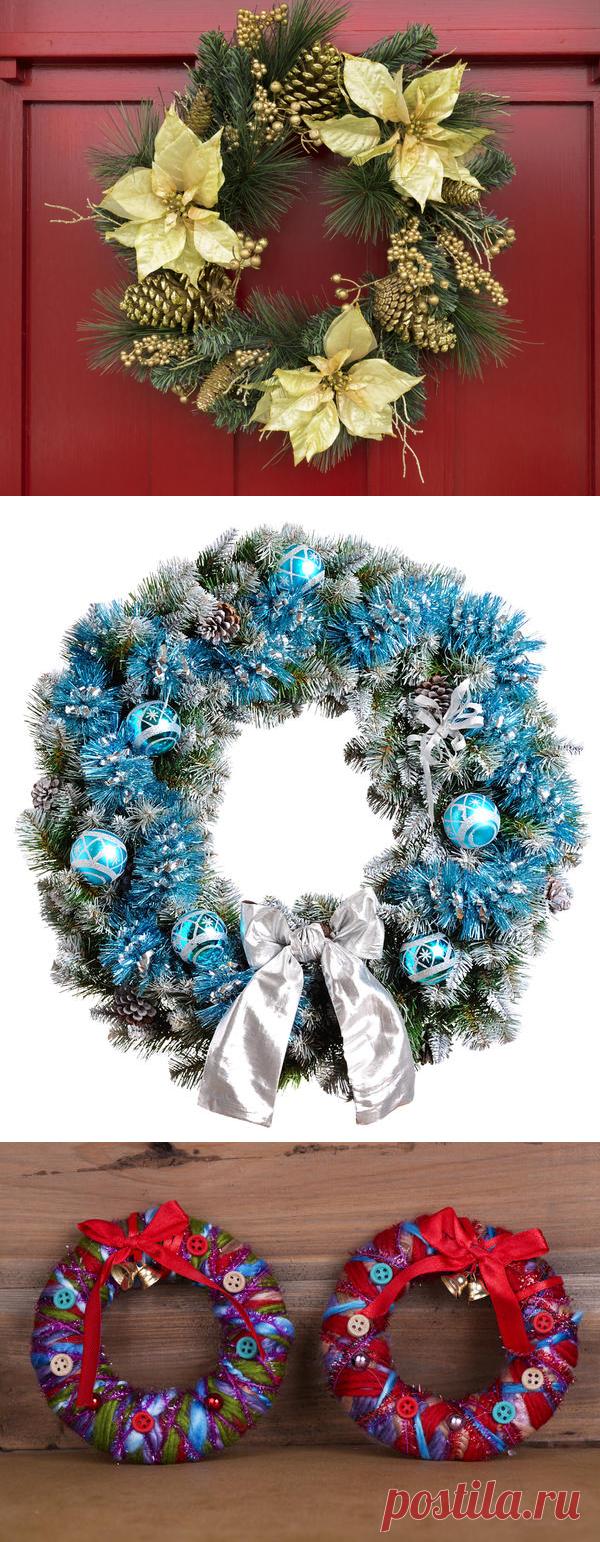 La corona navideña por las manos: las ideas, las clases maestras, el uso en la decoración de fiesta