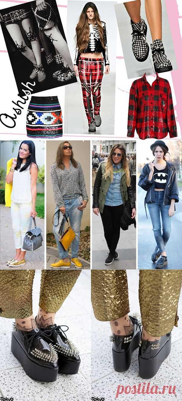 Ботиночки на толстой подошве (большая подборка, часть 2) / Как носить? / Модный сайт о стильной переделке одежды и интерьера