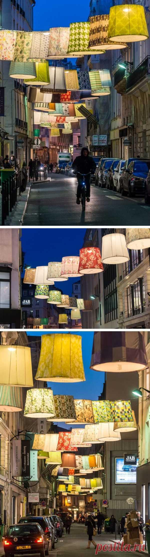 Необычная, красивая реклама постельного белья в Париже