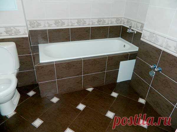 Укладка плитки в ванной своими руками : фото и видео   Все о ремонте