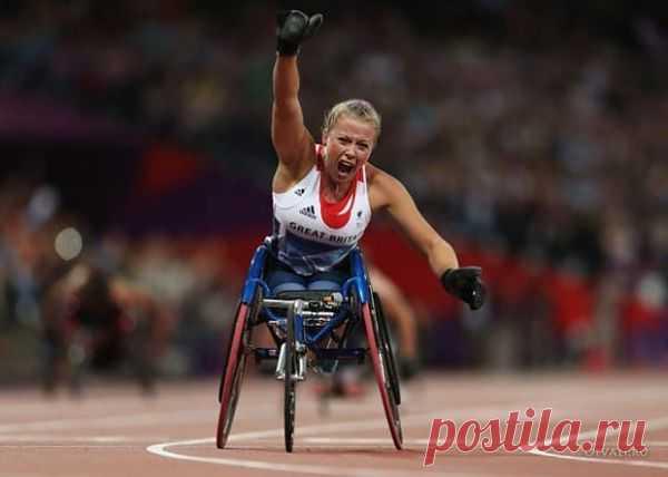 Радость победы паралимпийской чемпионки