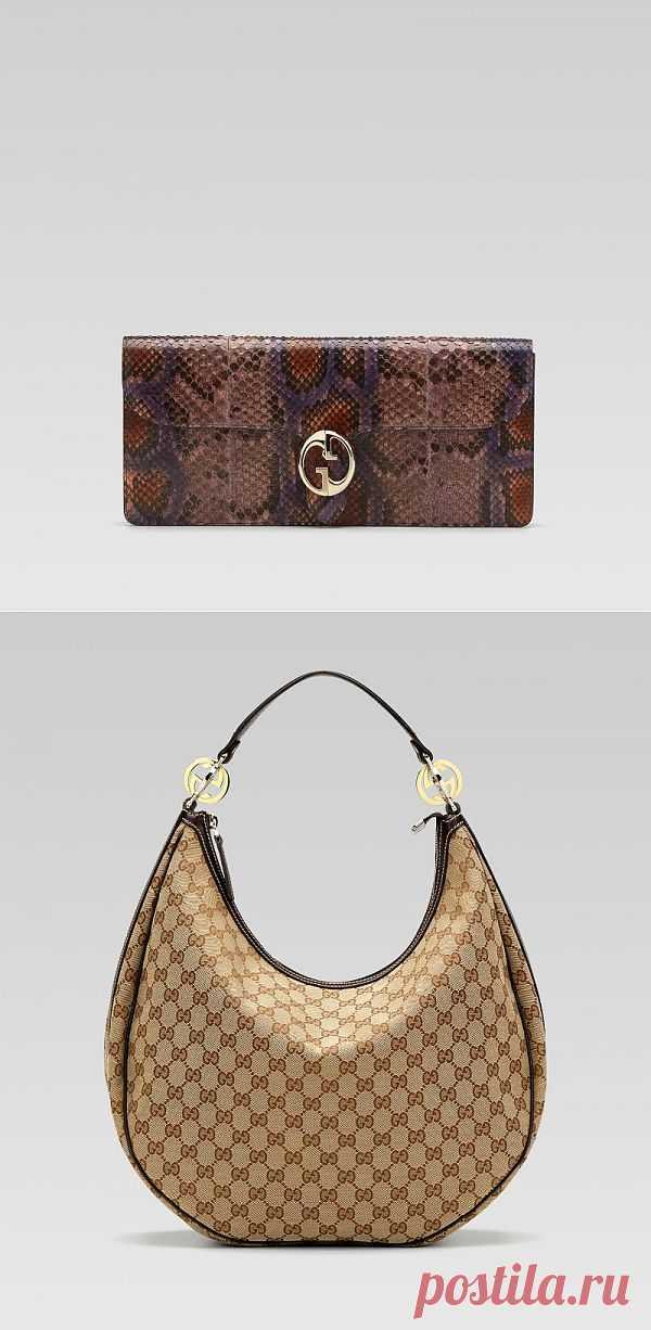 Сумки GG от Gucci с характерным принтом и металлическим аксессуаром. GG роскошный аксессуар для элегантных дам.
