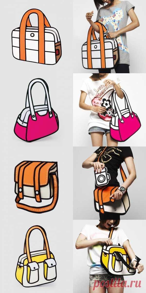 Настоящие сумки почти как ненастоящие!:) Выглядят как мультяшные, но абсолютно реальны!