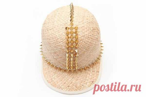 Соломенная кепка с шипами / Головные уборы / Модный сайт о стильной переделке одежды и интерьера