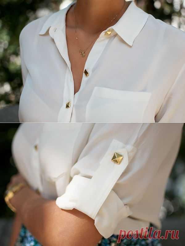 Простой способ обновить любимую блузку / Блузки / Модный сайт о стильной переделке одежды и интерьера