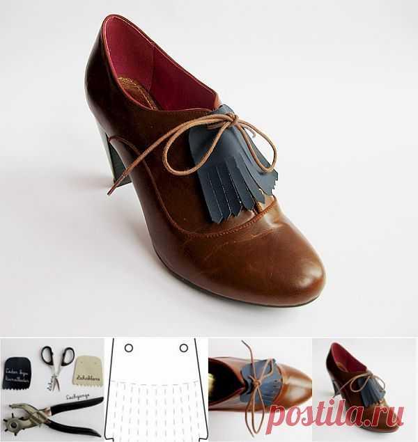 Туфли с декором из кожи (Diy) / Обувь / Модный сайт о стильной переделке одежды и интерьера