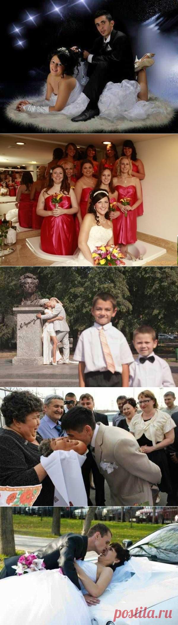 20 самых ужасных и сумасшедших свадебных фото, когда фотограф не слабо поиздевался | Интересные Факты