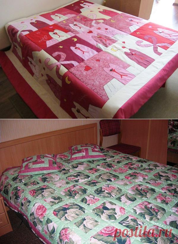 Как покрывало на кровать своими руками фото 769