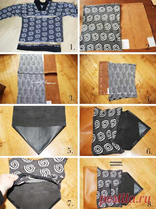 Сумка из свитера (Diy) / Сумки, клатчи, чемоданы / Модный сайт о стильной переделке одежды и интерьера