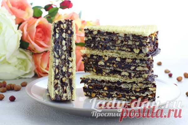 Вафельный торт с орехами и медом | Простые рецепты с фото