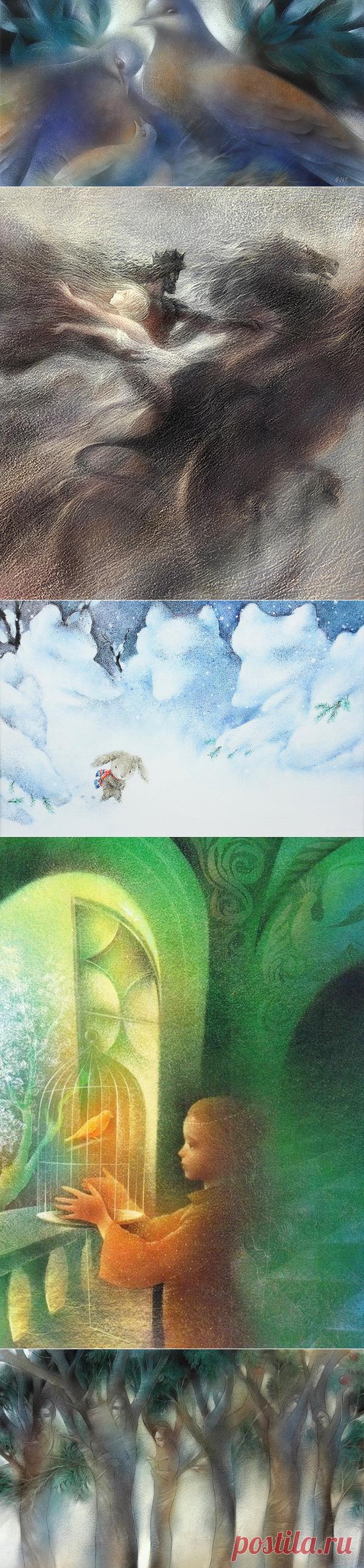 >Волшебные краски... мягкие линии... Сказка! Художник - иллюстратор Leonid Gore