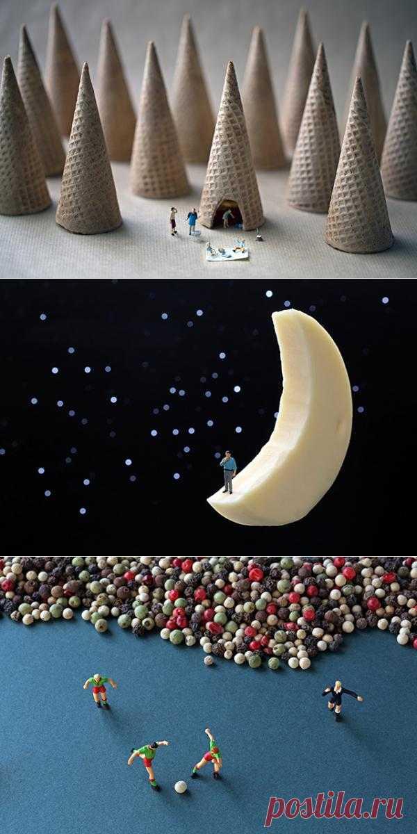 Крохотные человечки в мире еды - Фотография