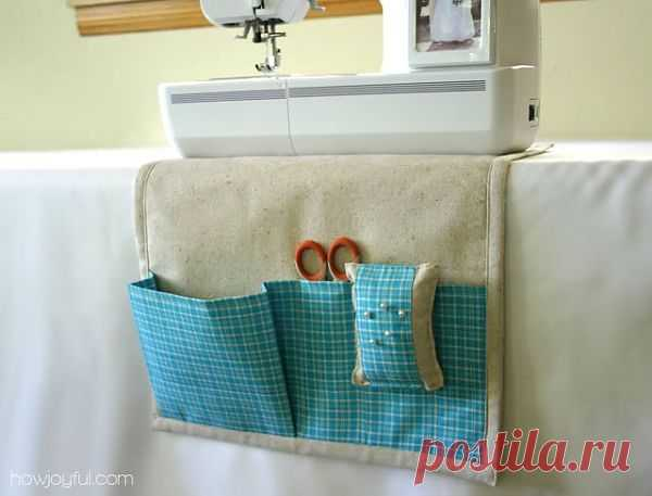 Шьем подложку под швейную машинку с кармашками.Очень оригинальная идея.