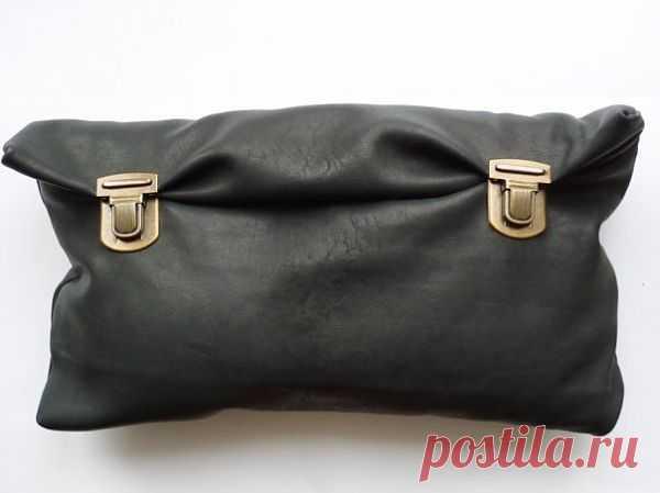 Клатч с застежками от портфеля / Сумки, клатчи, чемоданы / Модный сайт о стильной переделке одежды и интерьера