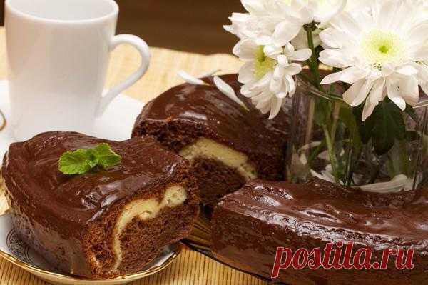 Шоколадно-творожный кекс.