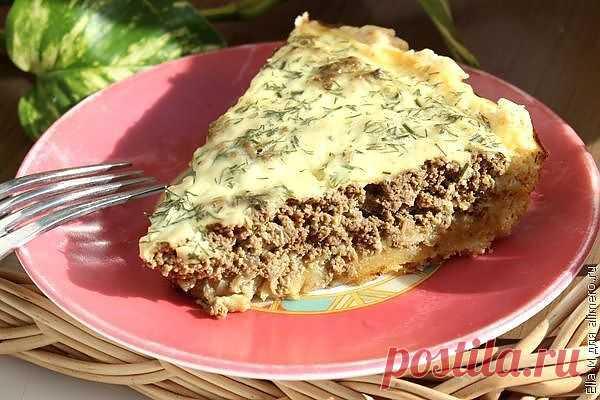 Пирог с печенью / Рецепты с фото