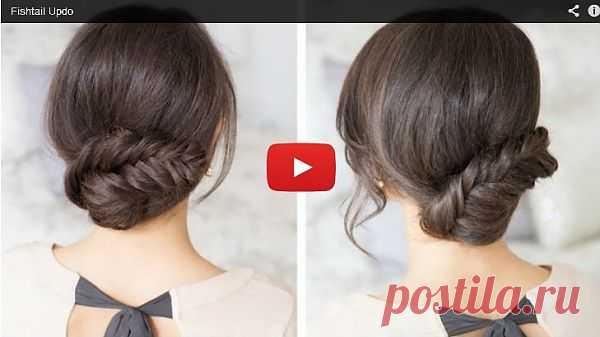 Пучок-колосок / Прически / Модный сайт о стильной переделке одежды и интерьера