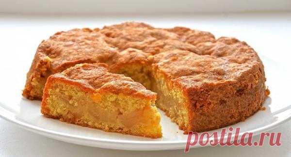 Пирог яблочный с овсянкой/