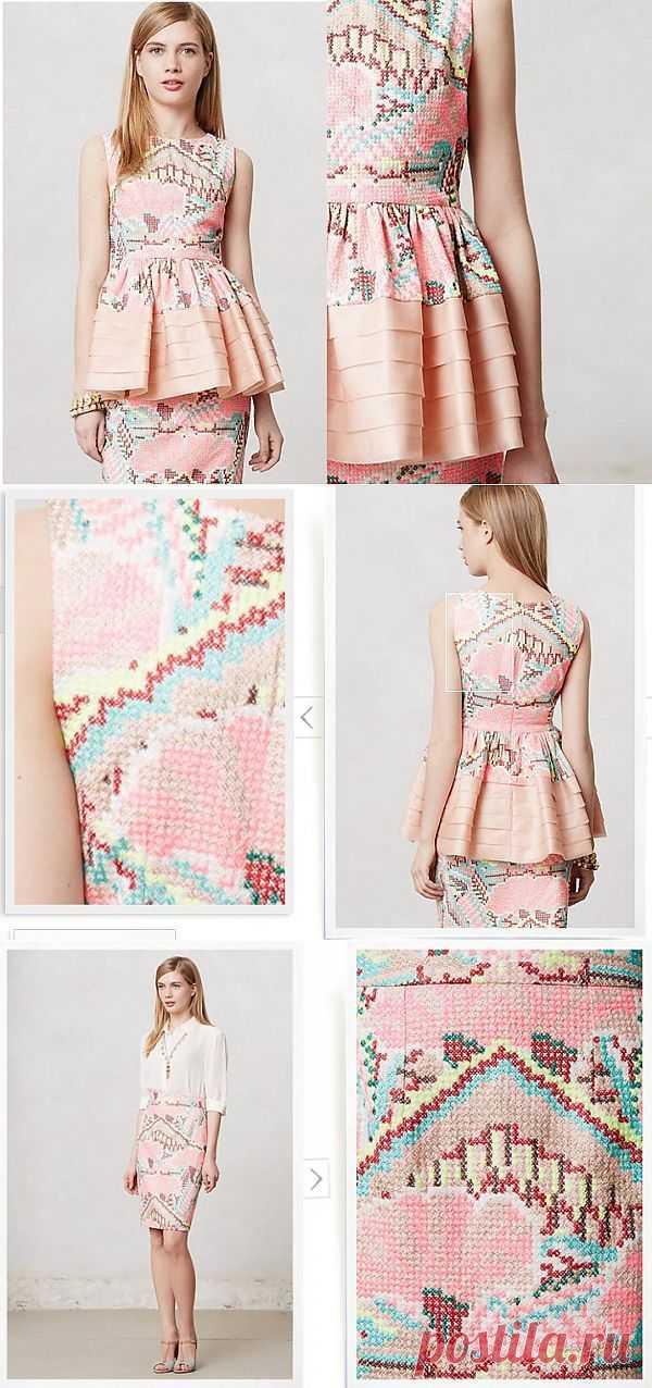 Вышитый крестиком костюм Anthropologie / Вышивка / Модный сайт о стильной переделке одежды и интерьера