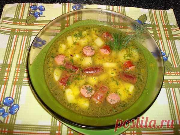 Обалденный суп из колбасок.