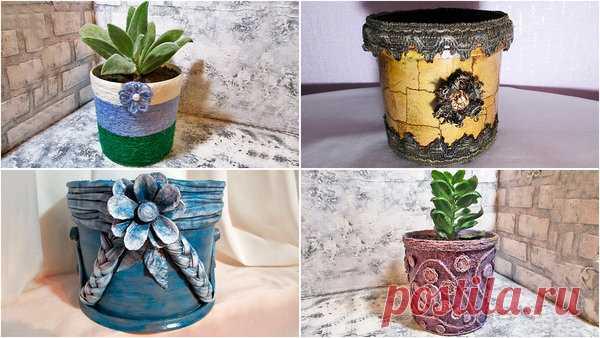8 идей декора цветочных горшков или как сделать горшок для цветов | Мастер Сергеич | Яндекс Дзен