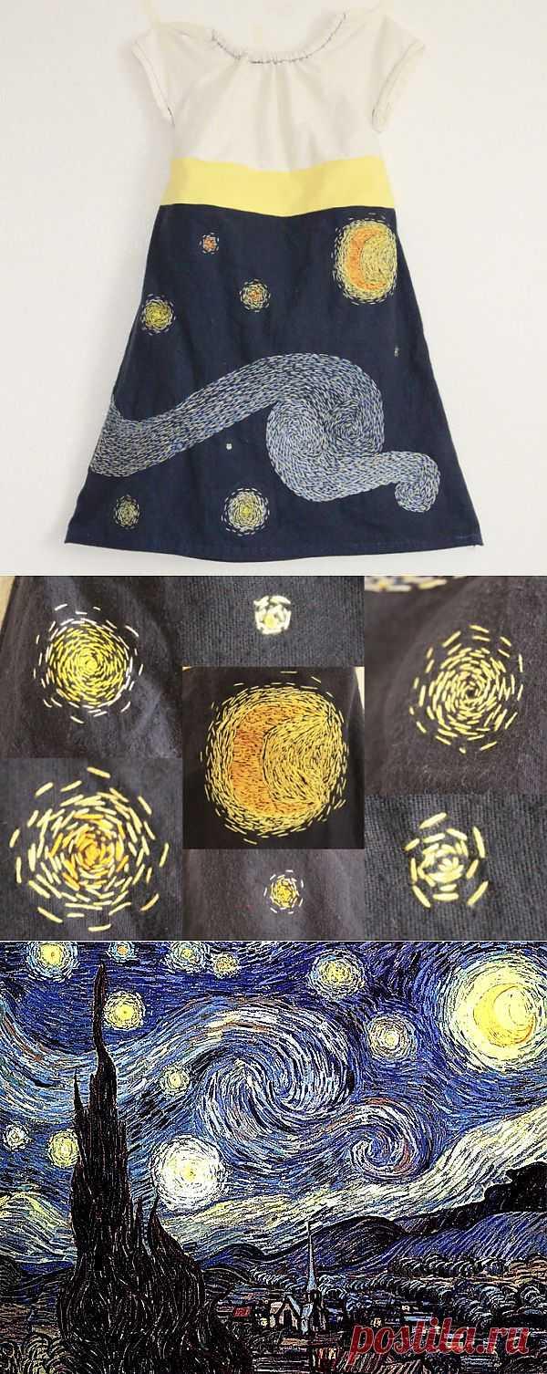 Вышивка в стиле Ван Гога. DIY / Для детей / Модный сайт о стильной переделке одежды и интерьера
